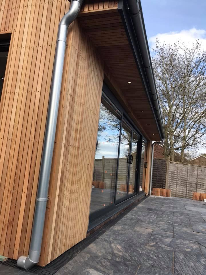 Home Extension Timber Clad Walls